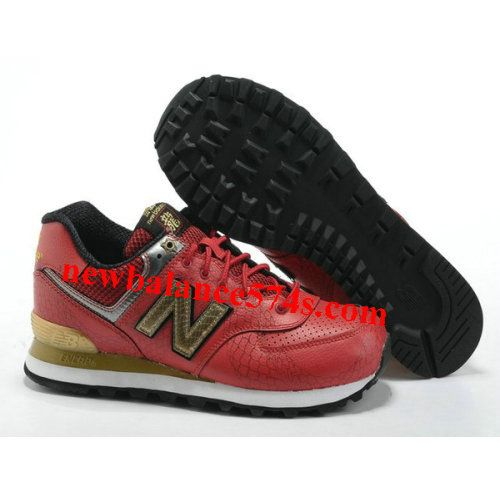 Discount New Balance NB 574 Year of Dragon word Red Golden Black For Men  shoes Fashion Shoes Store