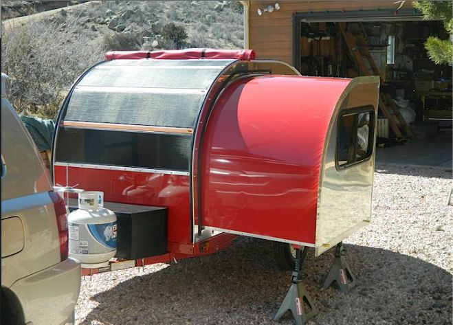 Read the online article about how a 14 y.o. boy made this teardrop camper with a slide-out