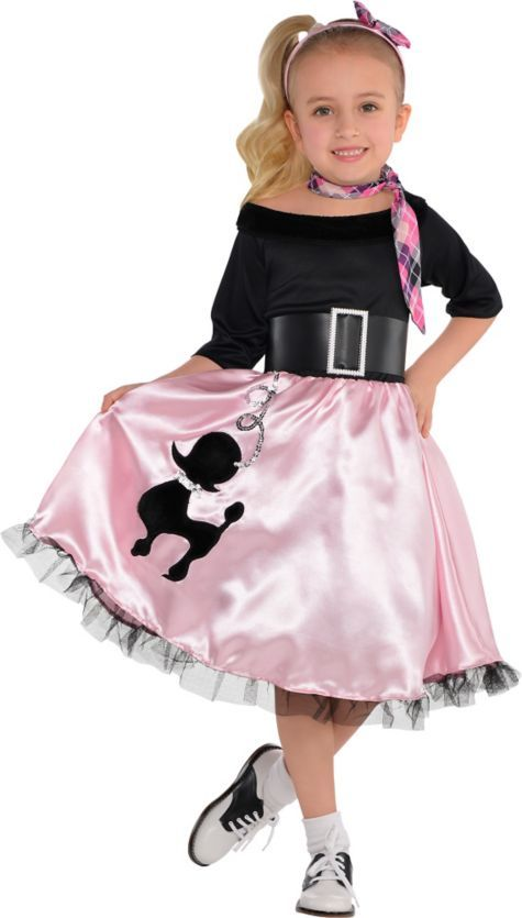 Toddler Girls Miss Sock Hop Costume - Party City