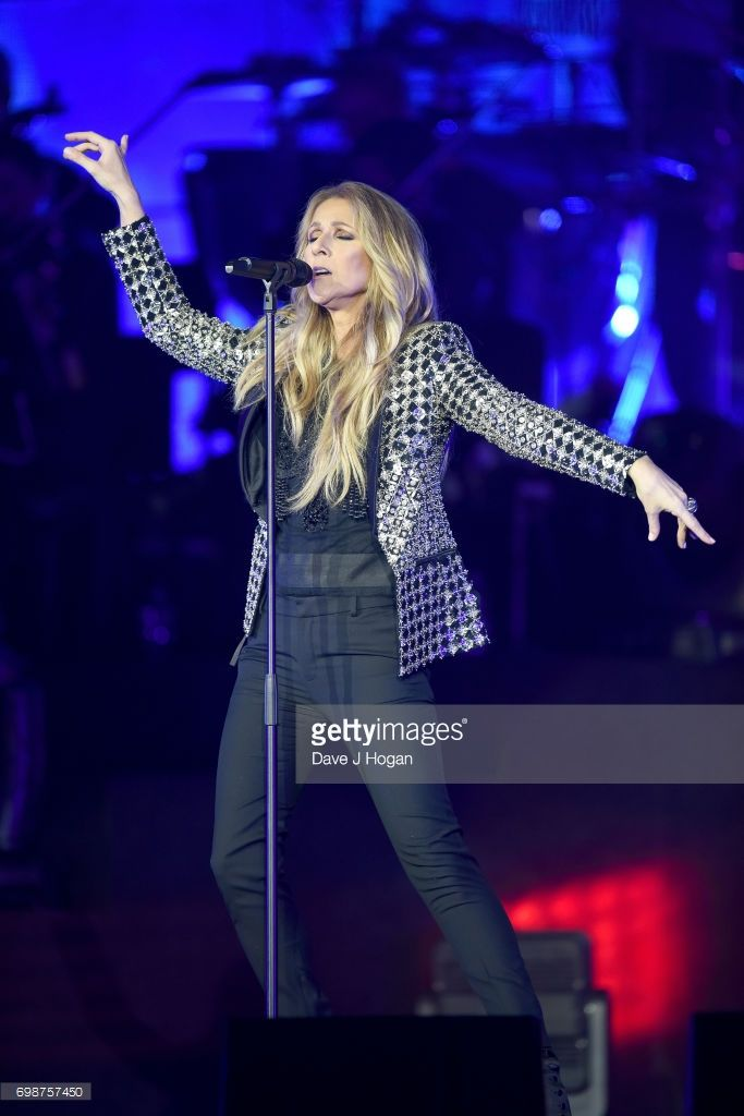 Celine Dion performs her first of four London shows on the Celine Dion Live 2017 tour at The O2 Arena on June 20, 2017 in London, England.