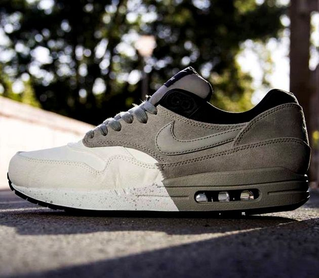 the latest 32d84 926d1 ... spain nike air max 1 c summit white medium grey c black c dark charcoal  sneakers