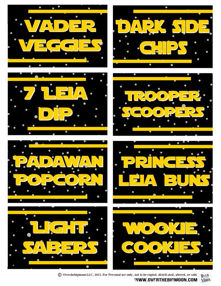 May the 4th Be with You Ideas and Free Food Printables | Over The Big Moon
