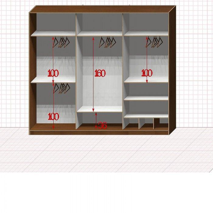 Шкафы гардеробные 3 секции  http://garderobemaster.ru * тел.:+7(495)765-22-65 Все представление товары можно заказать по индивидуальному проекту, с изменениями и дополнениями по вашему вкусу. Вы можете вместе с нашим Мастером внести все необходимые изменения в конструкцию, подобрать цвет и текстуру мебели к имеющемуся интерьеру. Все делается на заказ, в срок от 5 рабочих дней. Мы работаем каждый день с 10:00 до 19:00, выезд в выходные и праздники - по согласованию с заказчиком.