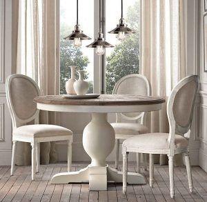 mesa de comedor redonda de cristal