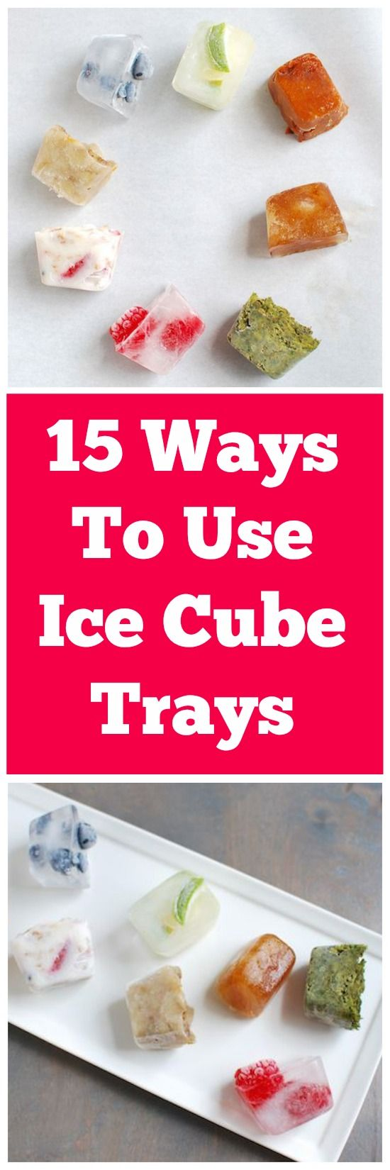 How clever is this?!! 15 Creative Ways to Use Ice Cube Trays @leangrnbeanblog #cooking #tips