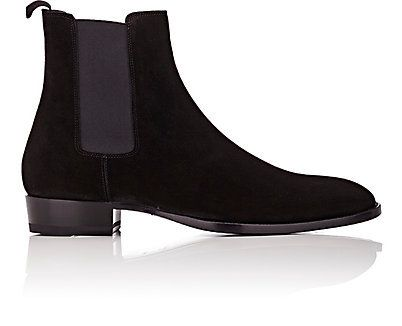 Handmade men leather boots -- suede chelsea boot -- a classic these are timeless