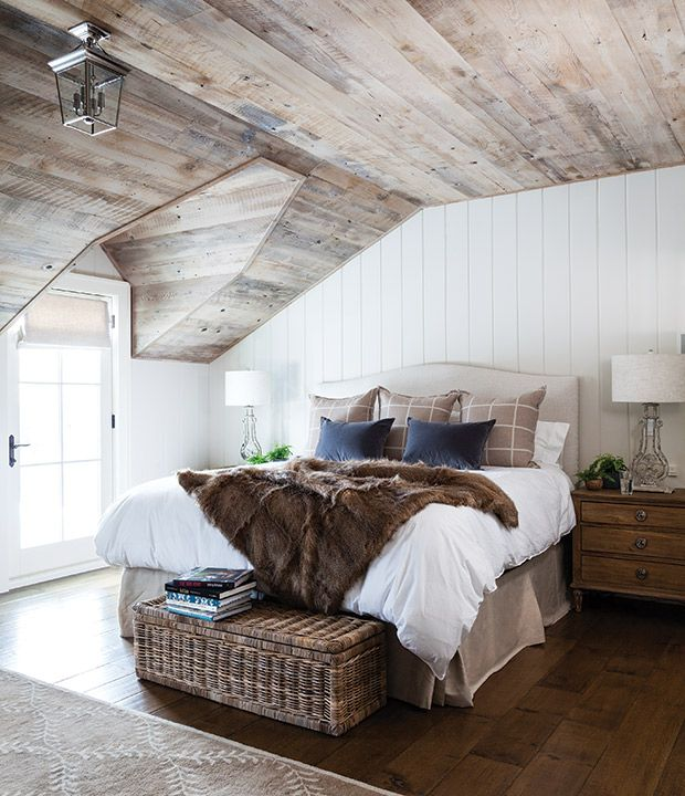 cozy rustic white + wood bedroom Home Tour: Cozy Up Inside This Historic Country House | House & Home