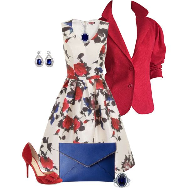 A fashion look from July 2016 featuring Chi Chi dresses, Halston blazers and Jessica Simpson pumps. Browse and shop related looks.