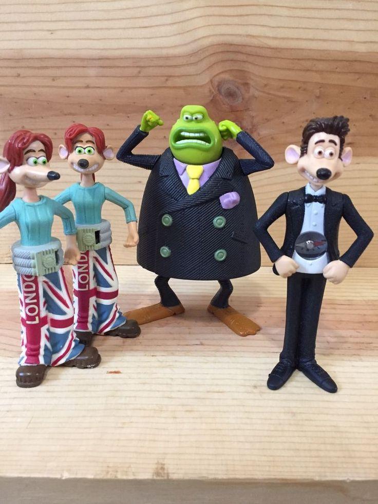 2006 Flushed Away McDonald's Toy Set Lot Of 4 Roddy Rita Sid Figurines  | eBay
