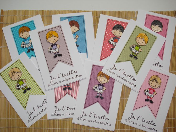 CARTON INVITATION GOUTER ANNIVERSAIRE GARCON : Cartes par ptitesbabioles