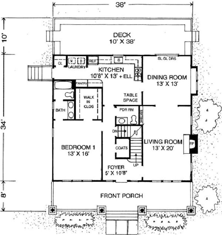 Craftsman Style House Plan - 3 Beds 2.5 Baths 2046 Sq/Ft Plan #302 ...