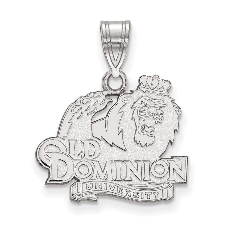 14kw LogoArt Old Dominion University Medium Pendant