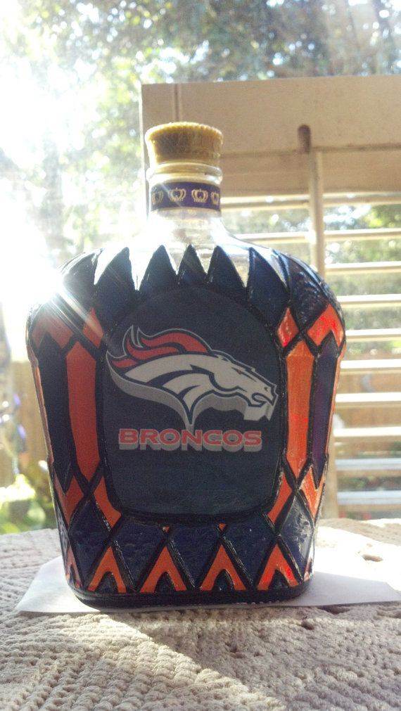 Denver Broncos Football Crown Royal Decanter by PattiesPassion