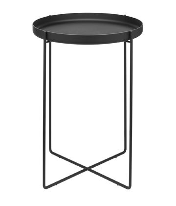 CM05 HABIBI tray, side table stainless steel black | table . Tisch | Design made in Germany: Philip Mainzer | e15 |
