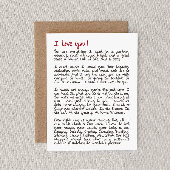 Love Card Funny Naughty Mature Adult For Boyfriend