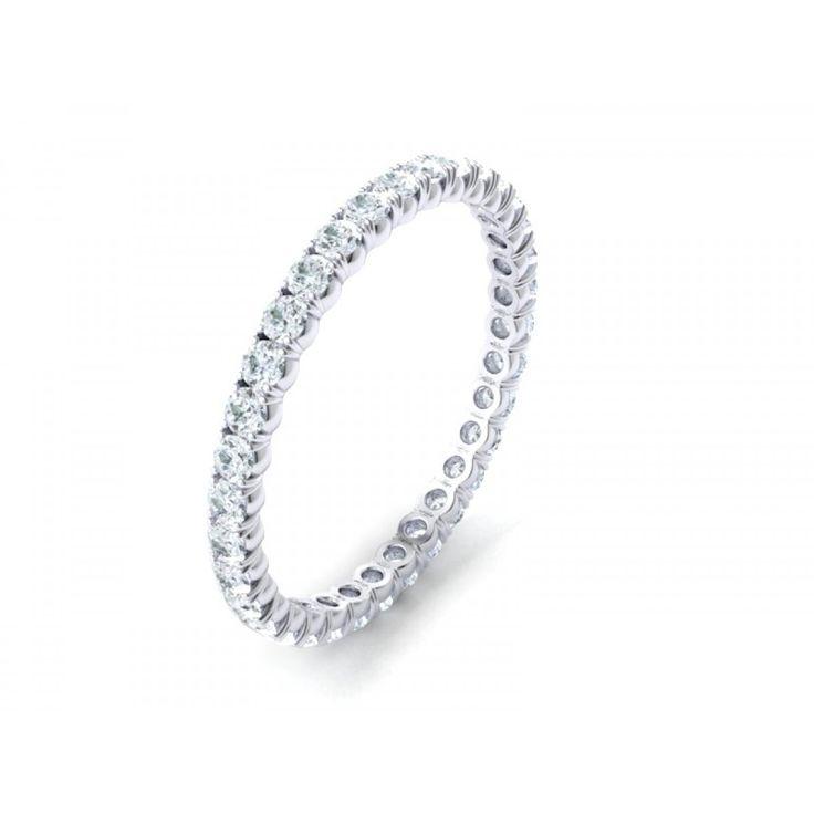 18K White Gold Full Eternity Band | Diamond Corporation South Africa