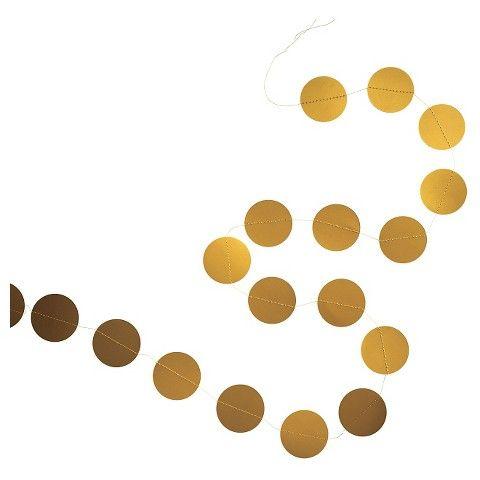 Spritz circle garland gold 1 ct gigi bday party for Gold dot garland