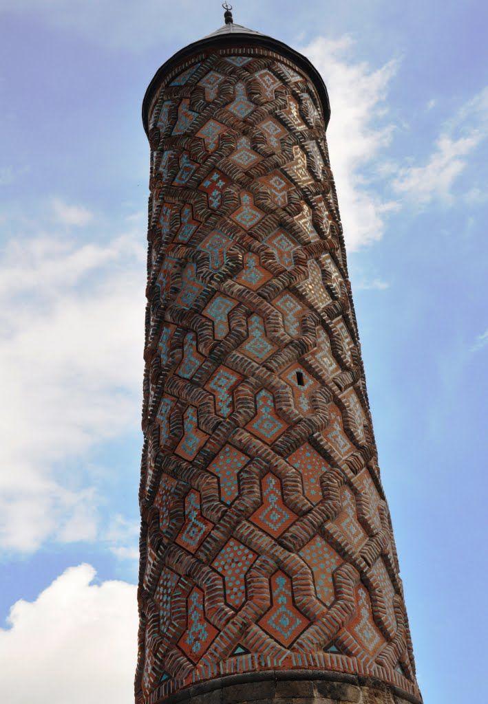 'Yakutiye Madrasa tiled minaret - Turkey • Erzurum Erzurum