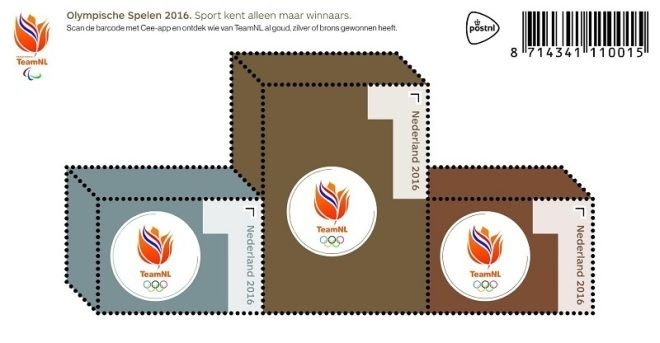 RIO Olympic Games 2016 stamps - Nederlands