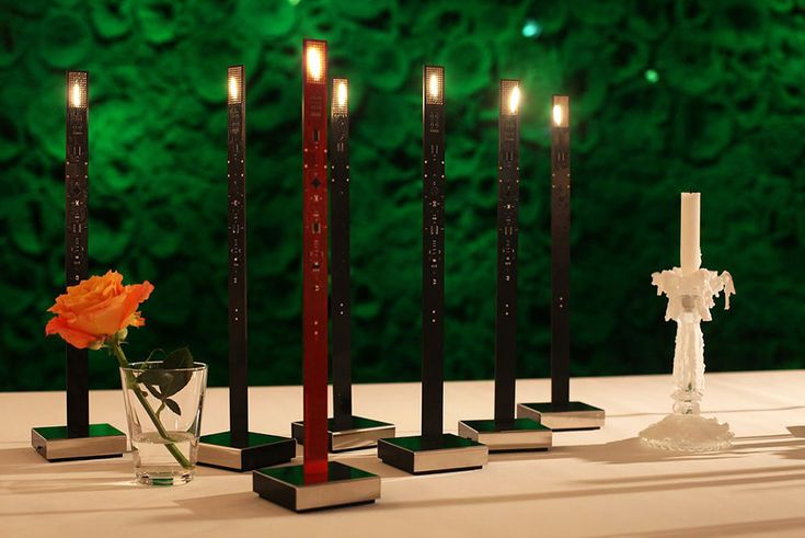 Ingo Maurer, lighting design at its best, My New Flame lamp, Moritz Waldemeyer, 2012