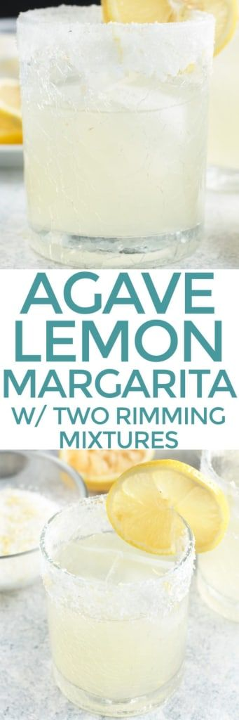 A Lemon Agave Margarita is a bright and citrusy take on the classic margarita, but without that pesky over-sweetened margarita mix. Made with fresh lemon juice and agave, this margarita is fresh and vibrant. Plus it can be rimmed with salt OR sugar, depending on your mood! | cakenknife.com #cocktail #recipe