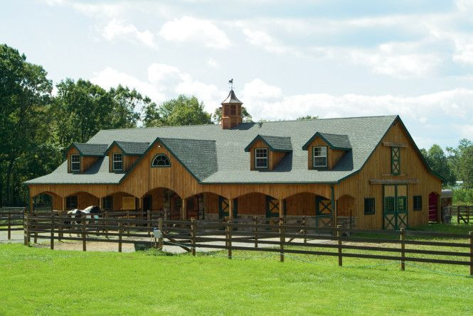 Horse Stables And Barns : This stall horse barn measures x built by b d