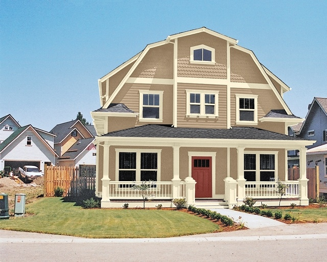 Sherwin williams sw 2835 craftsman brown sw 2833 - Sherwin williams outerspace exterior ...