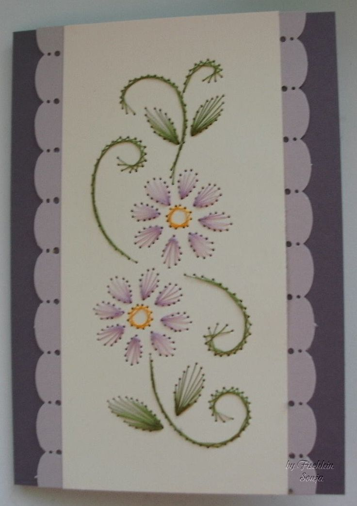 1096 Best Embroidery Cards Images On Pinterest Cards Paper