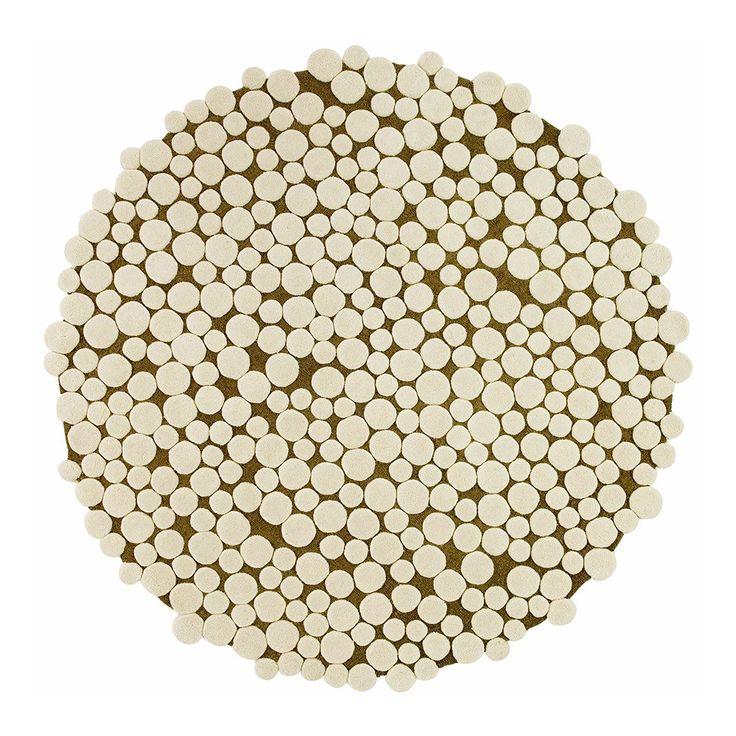 Gandia Blasco Hand Tufted Champinones Mushroom Circular Rug D 250cm