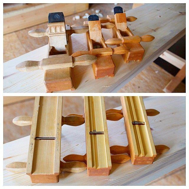 Høvlane til skottbenken er mitt bidrag til #handtoolthursday. Frå venstre #skottokse, #. Woodworking ...