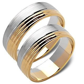 Żółte/Białe Złoto 14 k . Waga 7-9 g. Cena 1980 PLN /para. Perfect Design 14 ct White + Yellow Gold. Weight 7-9 g. Price 1.980 PLN Set of 2.