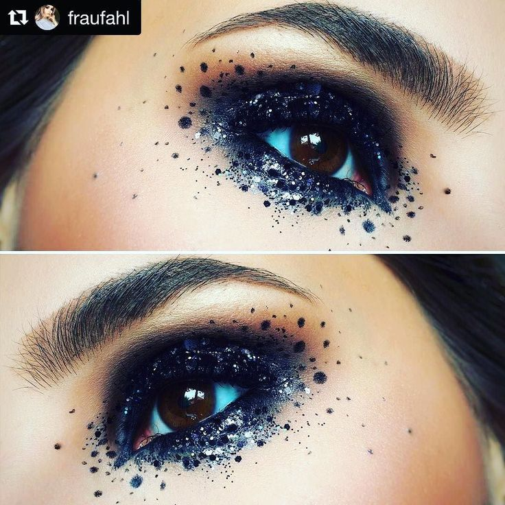 #Repost  @fraufahl with this absolutely amazing use of our S T A R G A Z E R  key features:  x eyeshadows: MAC Wedge Smut for the crease; Sugarpill Bulletproof on top of MACs Kohl Power Eye Pencil Feline on the lid x dots: Essence RockNDoll DUO Stylist Eyeliner Pen Kat von D Tattoo Liner Trooper x glitter coat: MAC Studio Eye Gloss Erogenous Zone (or any other dark sticky base) with @mylunabeam  #glitter #glitterbomb #glittery #glitterface #glittermakeup #glittermix #glitterbug…
