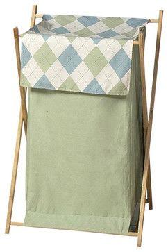 Argyle Blue & Green Hamper contemporary-hampers $40.00