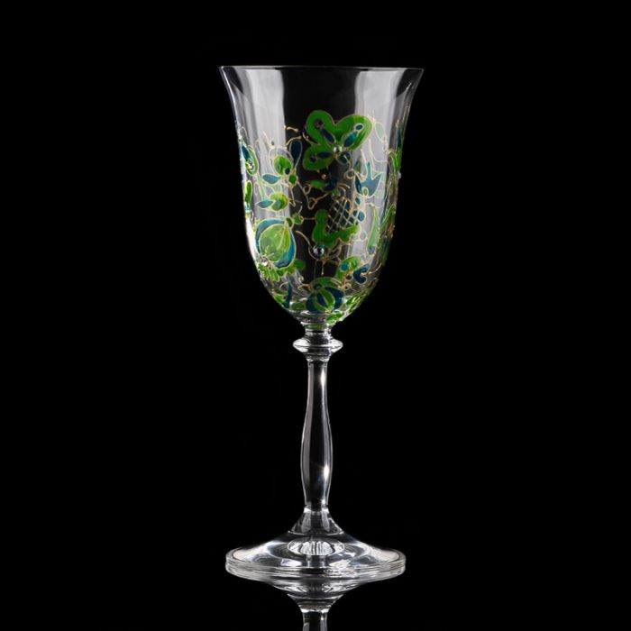 Hand-painted artistic wine glasses Kashubian Inspirations