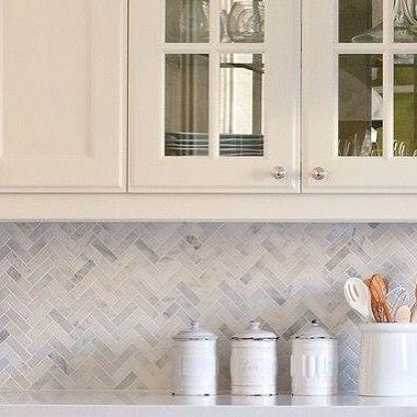Amber Tiles Kellyville: pinned from @ambertiles_yallah on Instagram: Herringbone Carrara mosaic. Splashback inspiration. #splashback #ambertiles #herringbonetile