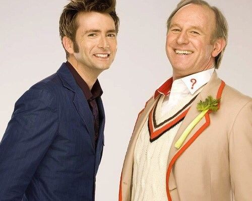 The Tenth Doctor and the Fifth Doctor • David Tennant and Peter Davison (also DT's father in law)