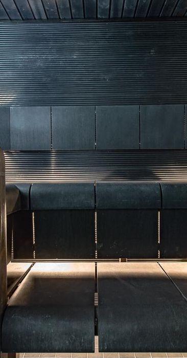 Upea musta sauna