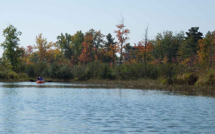Early autumn view from Auberge Lac-Brome, nature at its best!