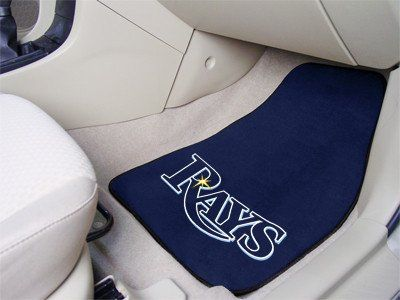 "MLB - Tampa Bay Rays 2-piece Carpeted Car Mats 17""x27"""