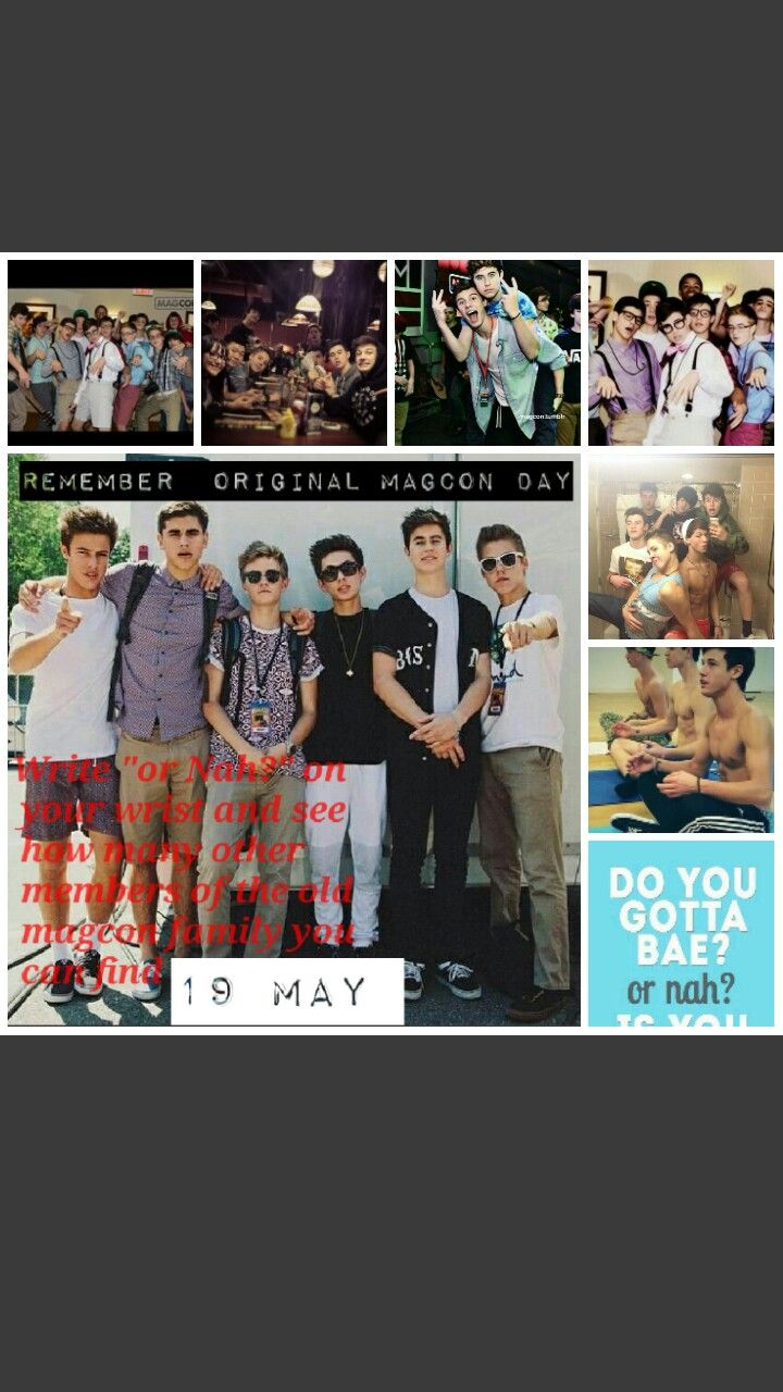 Magcon day  Original magcon  Viners  Magcon boys Nash grier, cameron dallas, Jack and Jack, shawn mendes ,hayes grier ,Taylor caniff, Aaron carpenter, carter raynolds