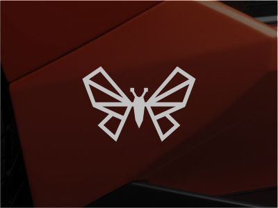 Logo mark proposal for the company that handles spare parts for Lamborghini supercars in the South Asia region. They belong to a bigger corporation that has a butterfly in the logo mark so this ver...
