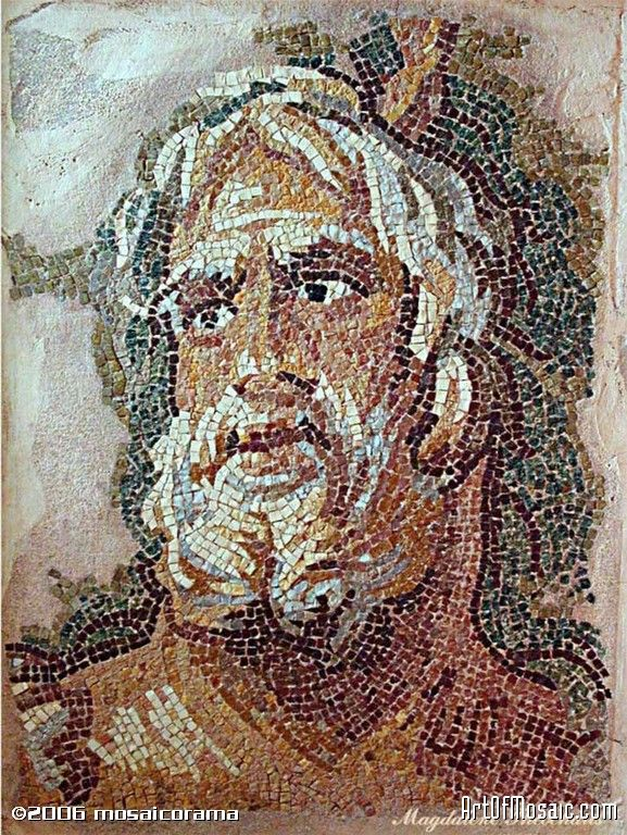SEA GOD FROM ZEUGMA. FRAGMENT REPLICA.