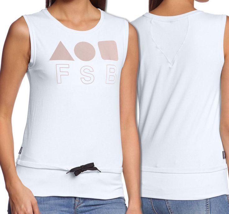 Canotta Canottiera T- shirt Freddy Donna Bianca Verde Danza Fitness Palestra