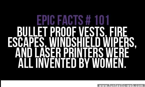 Actually, bullet proof vests were invented by a pizza delivery man.