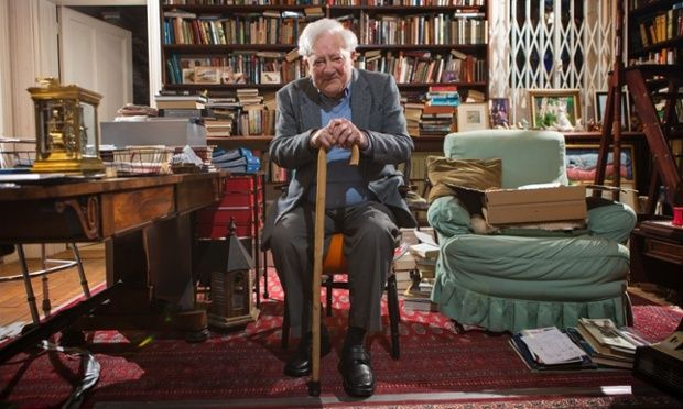 Richard Adams (author of Watership Down) at home in Hampshire, UK