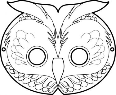 free printable masks: the owl Masque de Hibou