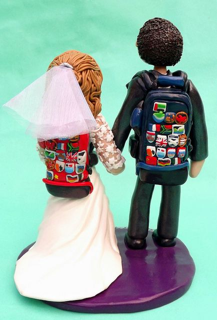 Traveling Backpacking Wedding Cake Topper by Ama Aqua Cake Toppers - Weddings, birthdays, Chris, via Flickr