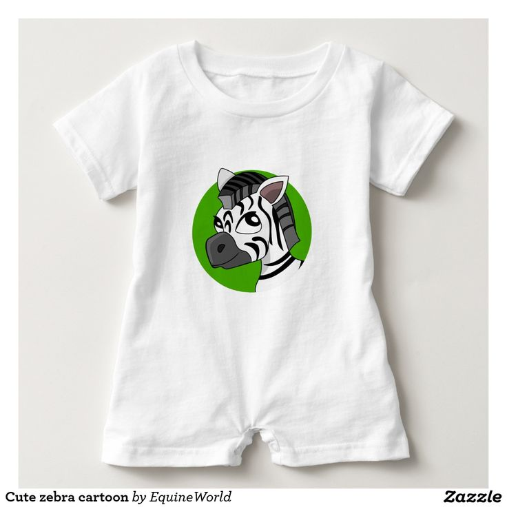 Cute zebra cartoon t shirt