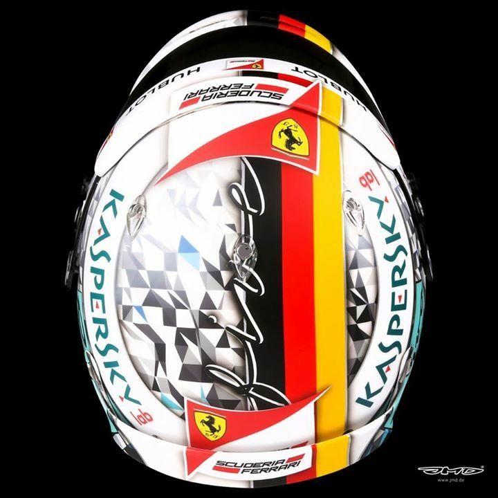 Vettel Helmet Design Britisch GP 2017