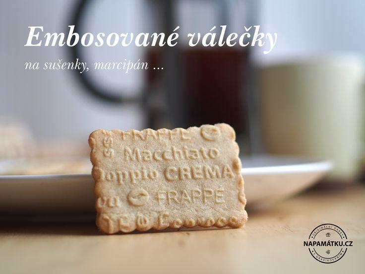 Máslová sušenka s originálními vzory, vytlačenými pomocí laserovaného válečku na sušenky http://napamatku.cz/12-embosovane-valecky